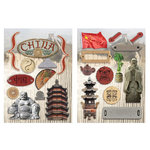 Paper House Productions - China Collection - Die Cut Chipboard Pieces - China