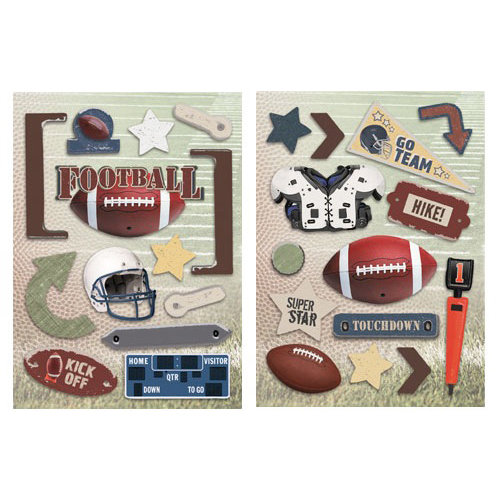 Paper House Productions - Football Collection - Die Cut Chipboard Pieces - Football