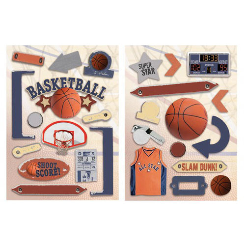 Paper House Productions - Basketball Collection - Die Cut Chipboard Pieces - Basketball