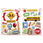Paper House Productions - School Days Collection - Die Cut Chipboard Pieces - School Days