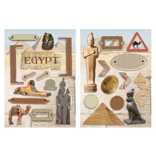 Paper House Productions - Egypt Collection - Die Cut Chipboard Pieces - Egypt