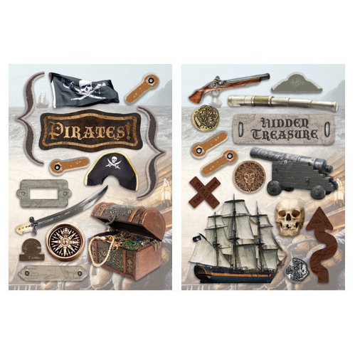 Paper House Productions - Pirate Collection - Die Cut Chipboard Pieces - Pirate