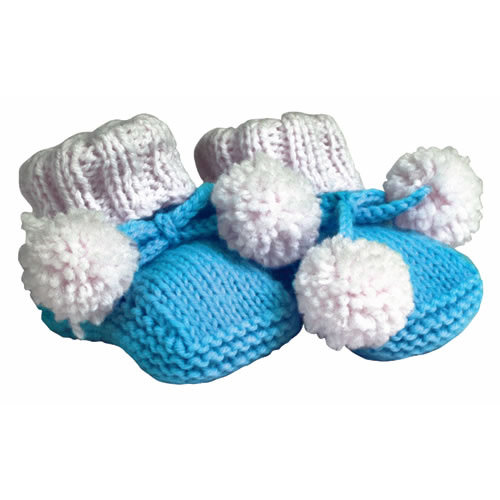 Paper House Productions - Baby Boy Collection - Mini Die Cut Piece - Blue Baby Booties