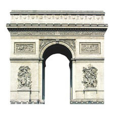 Paper House Productions - Paris Collection - Mini Die Cut Piece - Arc de Triomphe