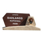 Paper House Productions - South Dakota Collection - Mini Die Cut Piece - Badlands Sign