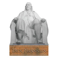 Paper House Productions - Pennsylvania Collection - Mini Die Cut Piece - Ben Franklin