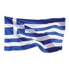 Paper House Productions - Greece Collection - Mini Die Cut Piece - Greek Flag