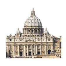 Paper House Productions - Rome Collection - Mini Die Cut Piece - St. Peter's Cathedral