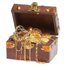 Paper House Productions - Pirate Collection - Mini Die Cut Piece - Treasure Chest