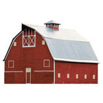 Paper House Productions - Farm Collection - Mini Die Cut Piece - Red Barn