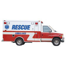 Paper House Productions - EMT Collection - Mini Die Cut Piece - Ambulance