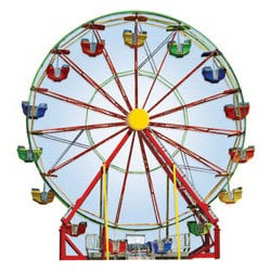 Paper House Productions - Carnival Collection - Mini Die Cut Piece - Ferris Wheel
