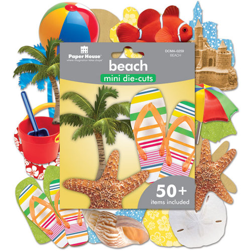 Paper House Productions - Mini Die Cut Pack - Beach