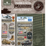 Paper House Productions - 12 x 12 Memory Crafting Kit - Untied States Marines