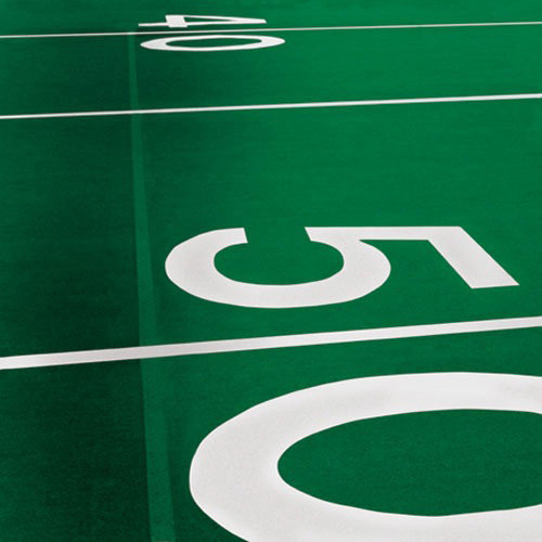 Paper House Productions - Football Collection - 12 x 12 Paper - Fifty Yard Line
