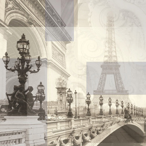 Paper House Productions - Paris Collection - 12 x 12 Paper - Paris Collage