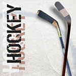 Paper House Productions - Hockey Collection - 12 x 12 Paper - Hockey Sticks