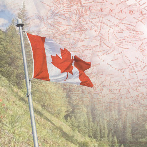 Paper House Productions - Canada Collection - 12 x 12 Paper - Canada Map