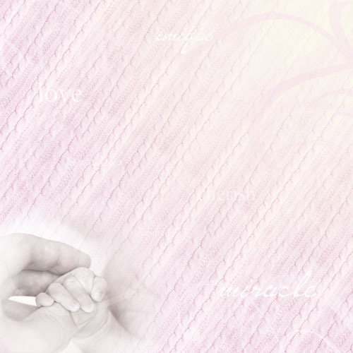 Paper House Productions - Baby Girl Collection - 12 x 12 Paper - Pink Baby Touch