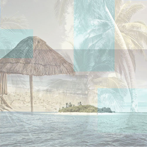 Paper House Productions - Tropical Island Collection - 12 x 12 Paper - Tropical Collage