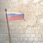 Paper House Productions - Russian Collection - 12 x 12 Paper - Russia Map