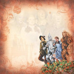 Paper House Productions - Wizard of Oz Collection - 12 x 12 Paper - Poppy Field