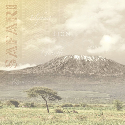 Paper House Productions - Africa Collection - 12 x 12 Paper - Mount Kilimanjaro