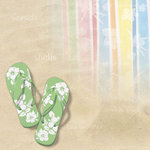Paper House Productions - Fun Beach Collection - 12 x 12 Paper - Beach Bum
