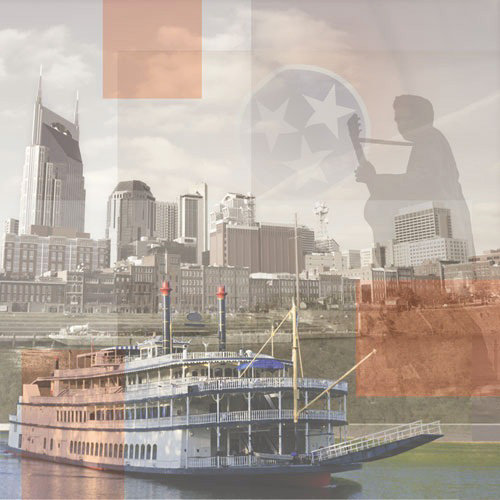 Paper House Productions - Tennessee Collection - 12 x 12 Paper - Tennessee Collage
