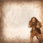Paper House Productions - Wizard of Oz Collection - 12 x 12 Paper - Cowardly Lion