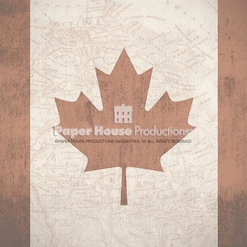 Paper House Productions - Canada Collection - 12 x 12 Paper - Canadian Flag