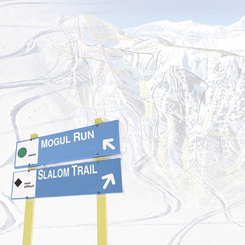 Paper House Productions - Winter Sports Collection - 12 x 12 Paper - Skiing Trail Map