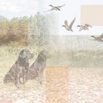 Paper House Productions - Hunting Collection - 12 x 12 Paper - Duck Hunting Collage