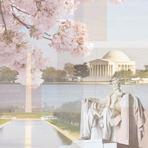 Paper House Productions - Washington DC Collection - 12 x 12 Paper - Presidential Monuments Collage
