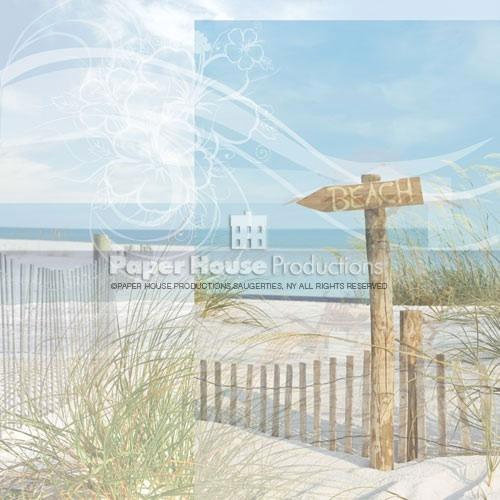 Paper House Productions - Beach Collection - 12 x 12 Paper - Beach Sign