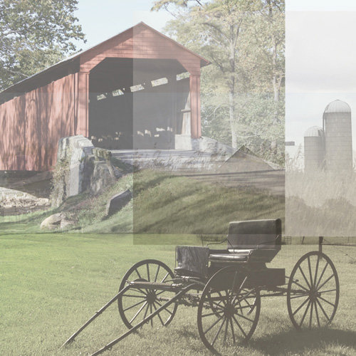 Paper House Productions - Pennsylvania Collection - 12 x 12 Paper - Amish Collage