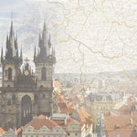 Paper House Productions - Prague Collection - 12 x 12 Paper - Prague Map