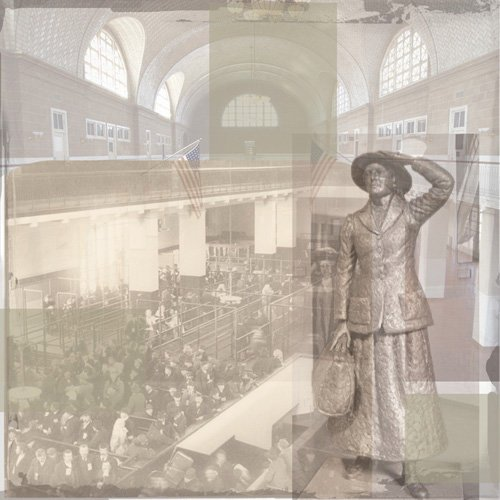 Paper House Productions - Ellis Island Collection - 12 x 12 Paper - Annie Moore Collage