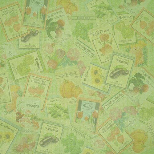 Paper House Productions - Gardening Collection - 12 x 12 Paper - Seeds