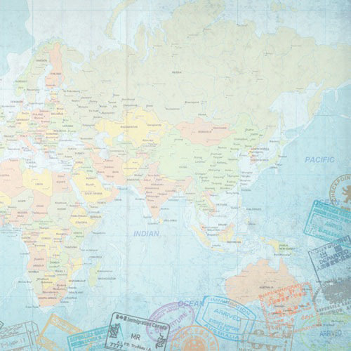 Paper House Productions - World Travel Collection - 12 x 12 Paper - E. Hemisphere