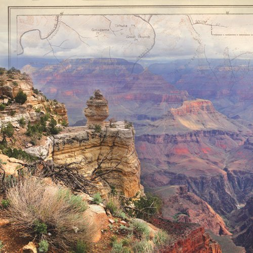 Paper House Productions - Arizona Collection - 12 x 12 Paper - Grand Canyon - Left
