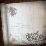 Paper House Productions - Handyman Collection - 12 x 12 Paper - Blueprint