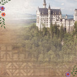 Paper House Productions - Germany Collection - 12 x 12 Paper - Castle Neuschwantein