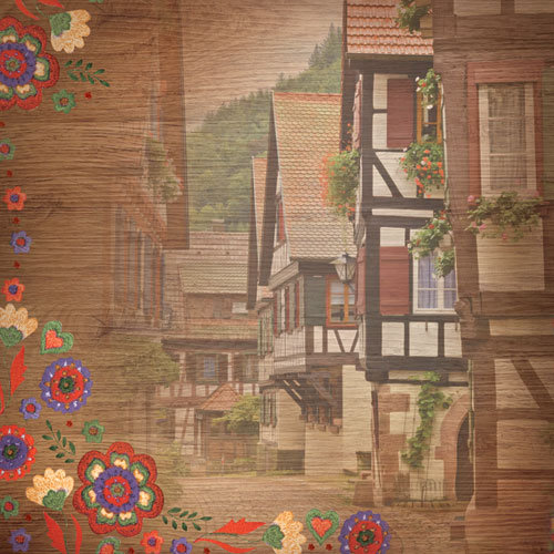 Paper House Productions - Germany Collection - 12 x 12 Paper - Bavarian Village