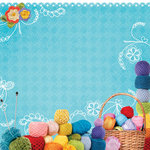 Paper House Productions - Handmade Collection - 12 x 12 Paper - Basket of Yarn