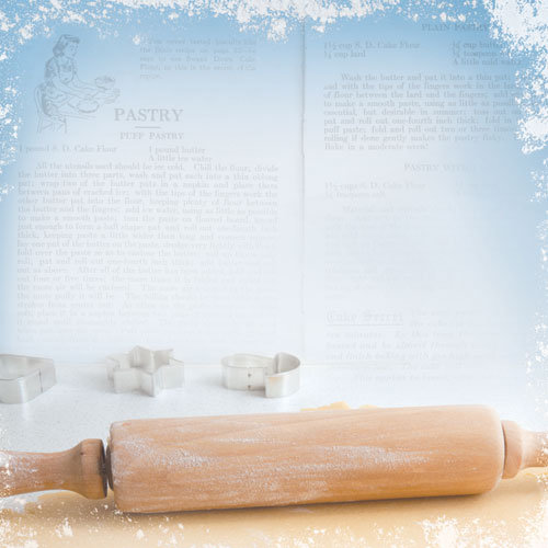 Paper House Productions - Baking Collection - 12 x 12 Paper - Rolling Pin