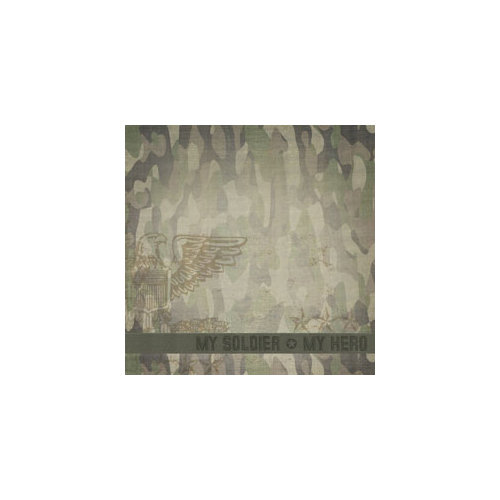 Paper House Productions - Military Life Collection - 12 x 12 Paper - My Hero