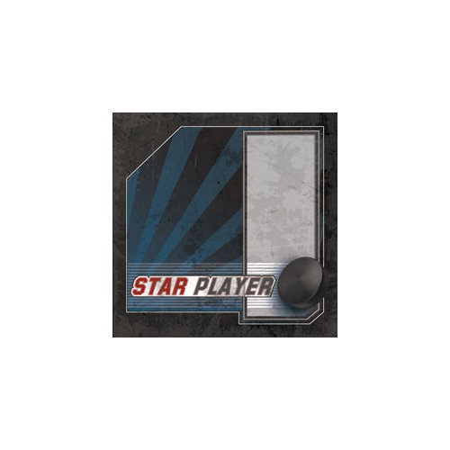 Paper House Productions - Ice Hockey Collection - 12 x 12 Paper - Star Player