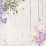 Paper House Productions - Floral Collection - 12 x 12 Paper - In the Garden