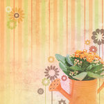Paper House Productions - Floral Collection - 12 x 12 Paper - Just Add Water